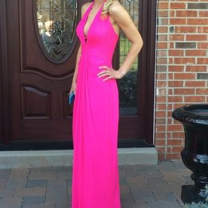 Bright Pink Prom Gown